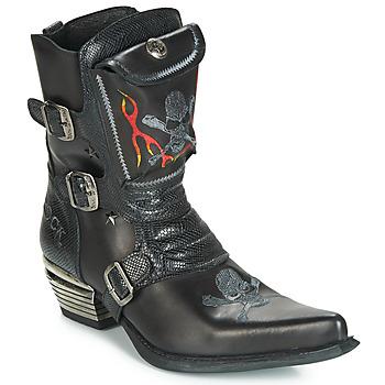 Cipők Férfi Városi csizmák New Rock M-WST024-S3 Fekete