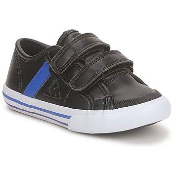 Cipők Fiú Rövid szárú edzőcipők Le Coq Sportif SAINT MALO Fekete  / Kék