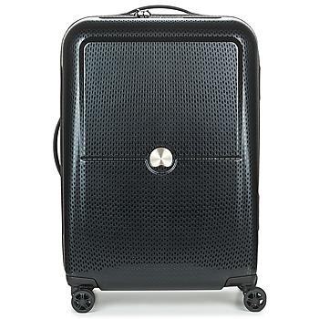 Táskák Keményfedeles bőröndök Delsey TURENNE CAB 4R 55CM Fekete
