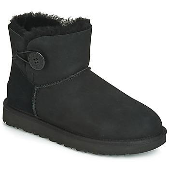 Cipők Női Csizmák UGG MINI BAILEY BUTTON II Fekete