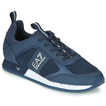 Cipők Férfi Rövid szárú edzőcipők Emporio Armani EA7 BLACK&WHITE LACES U Kék