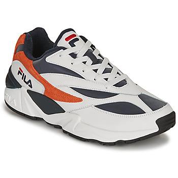 Cipők Férfi Rövid szárú edzőcipők Fila V94M R LOW Fehér / Narancssárga
