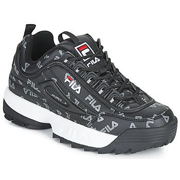 Cipők Női Rövid szárú edzőcipők Fila DISRUPTOR LOGO LOW WMN Fekete