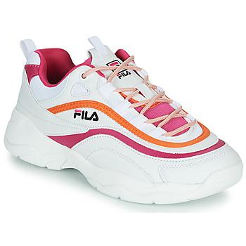 Cipők Női Rövid szárú edzőcipők Fila RAY CB LOW WMN Fehér / Rózsaszín / Narancssárga