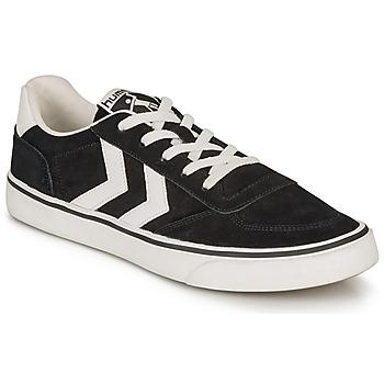 Cipők Rövid szárú edzőcipők Hummel STADIL 3.0 SUEDE Fekete  / Fehér