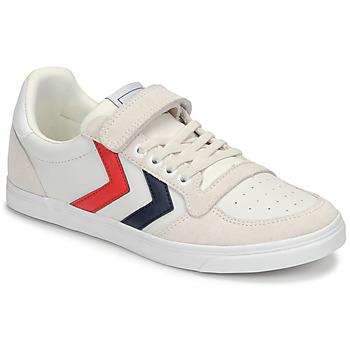 Cipők Gyerek Rövid szárú edzőcipők Hummel SLIMMER STADIL LEATHER LOW JR Fehér