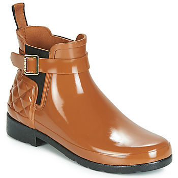 Cipők Női Gumicsizmák Hunter REFINED GLOSS QUILT CHELSEA Teve