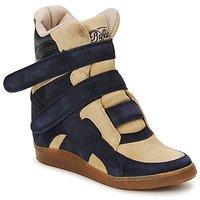 Cipők Női Magas szárú edzőcipők Buffalo GINGERWA Tengerész / Bézs