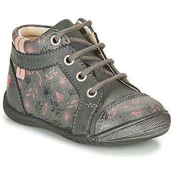 Cipők Lány Csizmák GBB OMANE Szürke / Rózsaszín