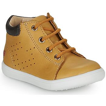 Cipők Fiú Magas szárú edzőcipők GBB FOLLIO Okker-cserszínű