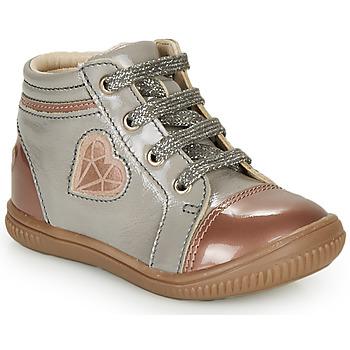 Cipők Lány Magas szárú edzőcipők GBB OTANA Szürke / Rózsaszín