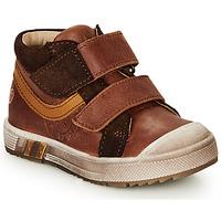 Cipők Fiú Magas szárú edzőcipők GBB OMALLO Barna