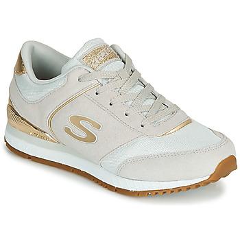 Cipők Női Rövid szárú edzőcipők Skechers SUNLITE Szürke / Arany