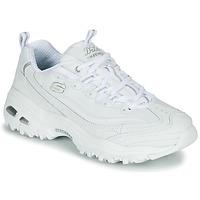 Cipők Női Rövid szárú edzőcipők Skechers D'LITES Fehér