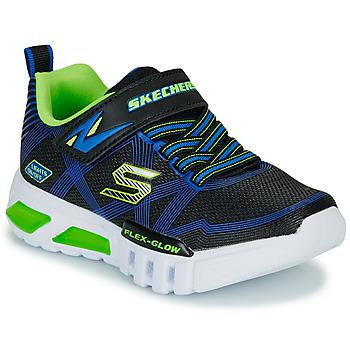 Cipők Fiú Rövid szárú edzőcipők Skechers SKECHERS BOY Kék / Zöld