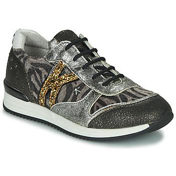 Cipők Lány Rövid szárú edzőcipők Ikks WHITNEY Szürke / Arany