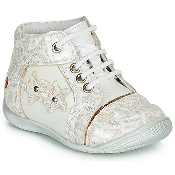 Cipők Lány Csizmák GBB MAE Fehér