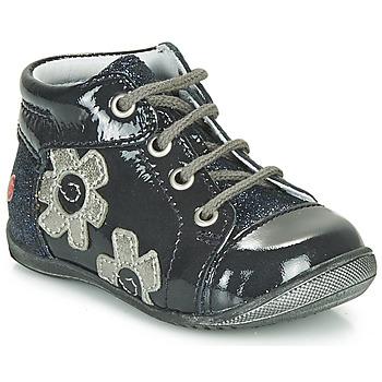 Cipők Lány Magas szárú edzőcipők GBB NEIGE Tengerész / Ezüst