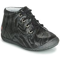 Cipők Lány Csizmák GBB NAOMI Fekete  / Ezüst