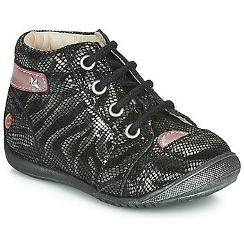 Cipők Lány Csizmák GBB NICOLE Fekete  / Ezüst