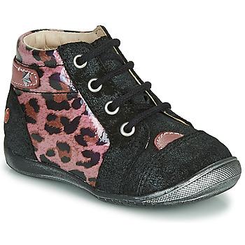 Cipők Lány Csizmák GBB NICOLE Fekete  / Rózsaszín