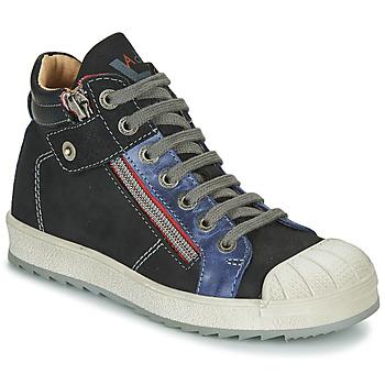 Cipők Fiú Magas szárú edzőcipők Achile DIEGO Fekete  / Kék