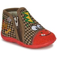 Cipők Fiú Mamuszok GBB NEREO Piros / Barna