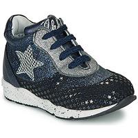 Cipők Lány Rövid szárú edzőcipők Ikks KAREN Kék / Ezüst