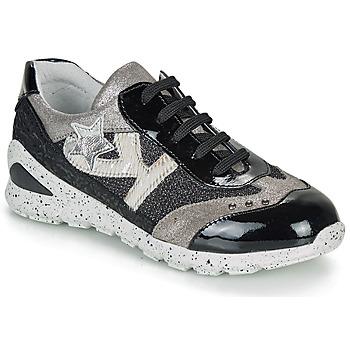 Cipők Lány Rövid szárú edzőcipők Ikks FIONA Fekete  / Ezüst