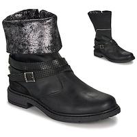 Cipők Lány Városi csizmák Ikks FLORA Fekete  / Ezüst