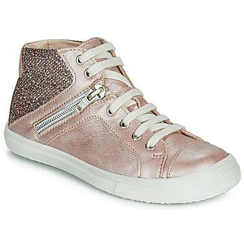 Cipők Lány Magas szárú edzőcipők Achile KAMI Rózsaszín