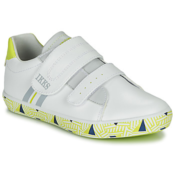 Cipők Fiú Rövid szárú edzőcipők Ikks JOE Fehér / Citromsárga