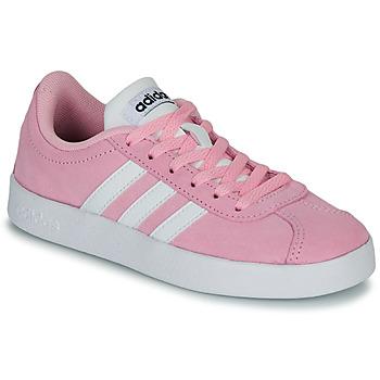 Cipők Gyerek Rövid szárú edzőcipők adidas Originals VL COURT K ROSE Rózsaszín