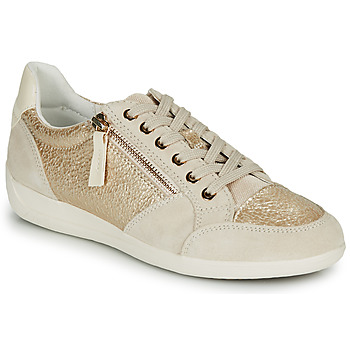 Cipők Női Rövid szárú edzőcipők Geox MYRIA Arany / Krém