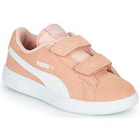 Cipők Lány Rövid szárú edzőcipők Puma SMASH PSV PEACH Korall