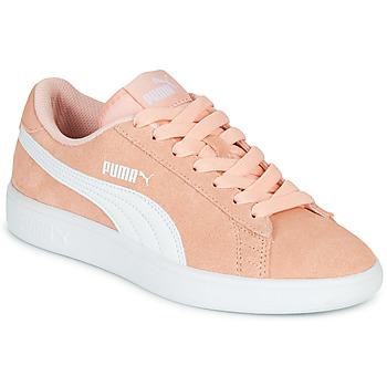 Cipők Lány Rövid szárú edzőcipők Puma SMASH V2JR PEAC Korall