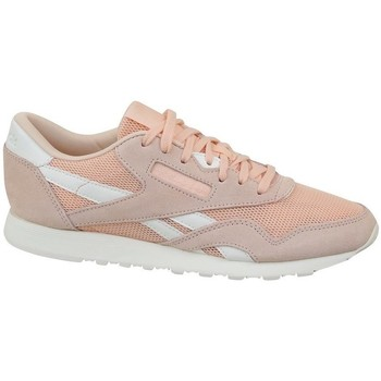 Cipők Női Rövid szárú edzőcipők Reebok Sport CL Nylon Mesh M Desert Rózsaszín