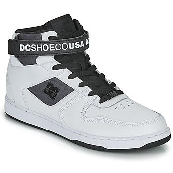Cipők Férfi Magas szárú edzőcipők DC Shoes PENSFORD SE Fehér / Fekete
