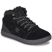 Cipők Gyerek Magas szárú edzőcipők DC Shoes CRISIS HIGH WNT Fekete