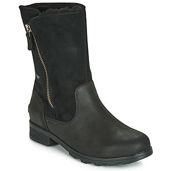 Cipők Női Csizmák Sorel EMELIE FOLDOVER Fekete