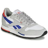 Cipők Rövid szárú edzőcipők Reebok Classic CL LEATHER MU Szürke / Kék