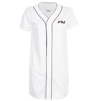 Ruhák Női Rövid ruhák Fila WOMEN ROBIN button baseball dr Fehér