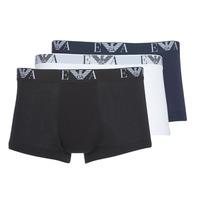 Fehérnemű Férfi Boxerek Emporio Armani CC715-111357-56110 Fehér / Fekete  / Tengerész