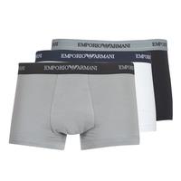 Fehérnemű Férfi Boxerek Emporio Armani CC717-111357-02910 Fehér / Fekete  / Szürke