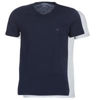 Ruhák Férfi Rövid ujjú pólók Emporio Armani CC722-111648-15935 Tengerész / Szürke