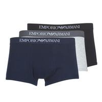 Fehérnemű Férfi Boxerek Emporio Armani CC722-111610-94235 Tengerész / Szürke / Fekete