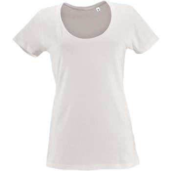 Ruhák Női Rövid ujjú pólók Sols METROPOLITAN CITY GIRL Blanco