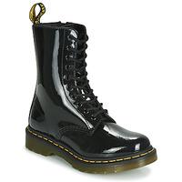 Cipők Női Csizmák Dr Martens 1490 PATENT LAMPER Fekete