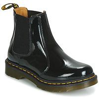 Cipők Női Csizmák Dr Martens 2976 PATENT LAMPER Fekete