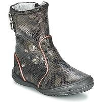 Cipők Lány Városi csizmák Catimini CLABAUD Bronz / Fekete
